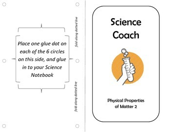 Science Coach Note-Page, Physical Properties 2