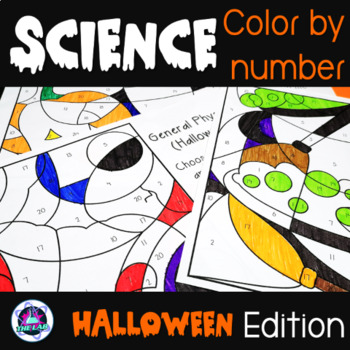Science Color-by-Number Bundle (Halloween Edition)