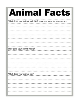 Science Common Core Animals Habitats Adaptations Research Guide