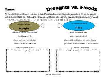 Science: Comparing Floods and Droughts: Weather