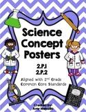 2nd Grade Science Concept Posters 2.P.1 2.P.2 Sound Matter Liquids