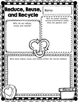 4th Grade Science Concept Posters 4.L.1 4.L.2 Adaptation Recycle Environment