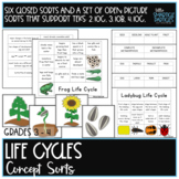 Life Cycles Science Concept Sorts