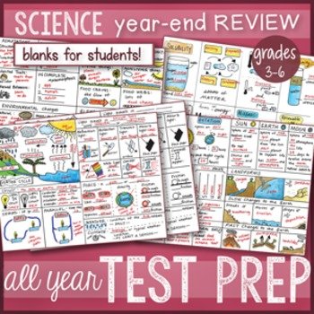 Science Concepts TEST PREP BUNDLE, STAAR review by Science Doodles *BEST SELLER*