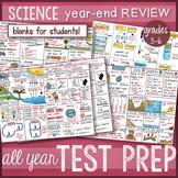 Doodle Notes - Science Concepts TEST PREP BUNDLE, STAAR review *BEST SELLER*