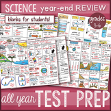 Science Doodle - TEST PREP BUNDLE, STAAR review Notes  *BE