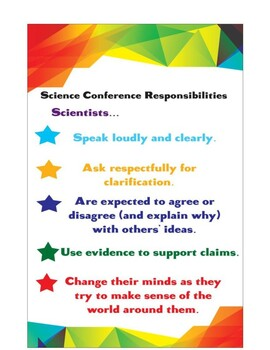 Science Conference Responsibility Poster