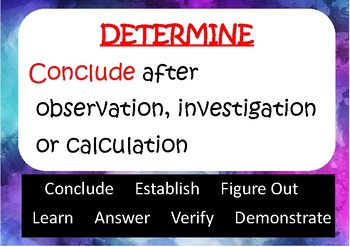 Science Congitive Verb Posters