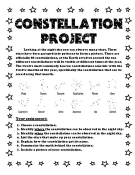 Science Constellation Project Research Science Constellati