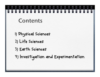 Science Content Standards for California - 5th grade