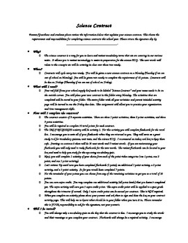 Science Contract Letter