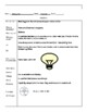Science Cornell Notes template, w/manipulative and example