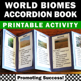 Biomes Unit Supplement Accordion Book, Earth Science Interactive Notebook