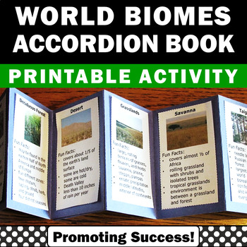 Biomes of the World Accordion Book Craftivity Earth Scienc