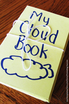Clouds Foldable Accordion Book, Cloud Types Activity for Weather Unit