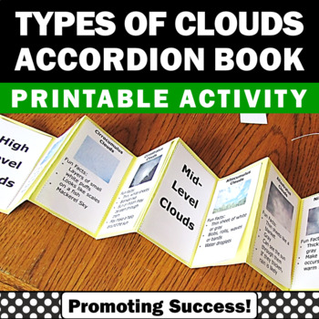 Types of Clouds Accordion Book Craftivity Spring or Summer