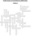Science Crossword Puzzle for Middle School - General No. 2