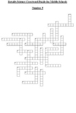 Science Crossword Puzzle for Middle School - General No. 5