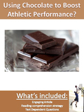Science Current Event - Athletes Use Chocolate to Boost Performance