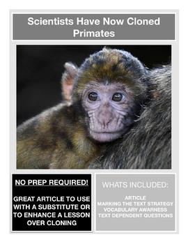 Science Current Event -- Cloning Primates