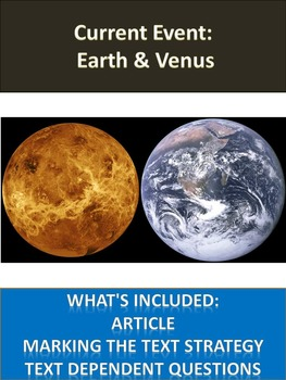 Solar System Sub Plans - Earth and Venus