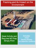 Science Current Event - Fracking