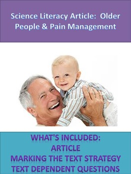 Sciene Literacy: Aging and Pain Management