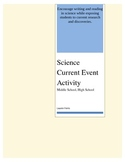 Science Current Event Writing Activity