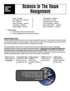 Science Current Events Assignment