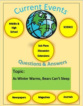 Science Current Events Captain Planet: As Winter Warms, Bears Can't Sleep.