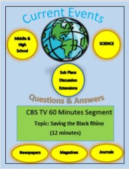Science Current Events by Captain Planet: Saving the Black Rhino