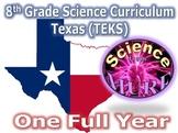 Science Curriculum Grade 8 Texas TEKS