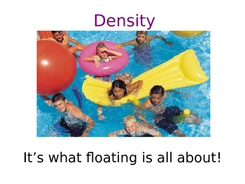 Science: DENSITY, mass/volume (interactive PowerPoint notes)