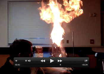Science Demonstration Flour Funnel Flame