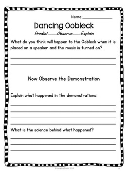 Science Demos:  Predict, Observe, Explain