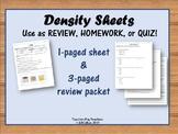 Density Sheets