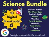 Science Digital Breakout Bundle: (Scientific Method, Water Cycle, Plants, +)