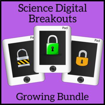 Science Digital Brekouts Growing Bundle - Unlock the Box - Escape Room