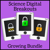 Science Digital Brekouts Growing Bundle - Unlock the Box - Escape Room