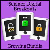 Science Escape Room Growing Bundle Digital Distance Learning Breakouts