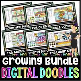 Science Digital Doodles for Distance Learning Growing Bundle