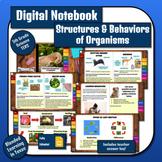 Science Digital Interactive Notebook: Structures & Behaviors of Organisms TEKS