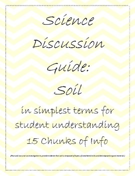 Science Discussion Guide: Soil (plus hands-on activity)
