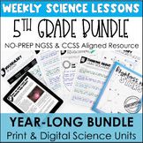 5th Grade Science Units | Year-Long Bundle | With Reading Passages