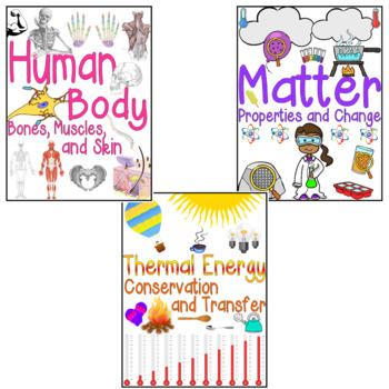 Science Domain Posters for 3rd Grade NC Essential Standards