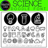 Science Doodle FONT {Creative Clips Clipart}