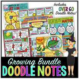SCIENCE DOODLE NOTES, INB, ANCHOR CHARTS, & QUIZ - GROWING BUNDLE!