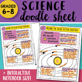 Science Doodle Sheet - Holding the Solar System Together - Easy Notes w PPT