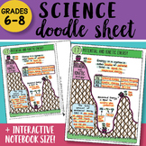 Science Doodle Sheet - Potential and Kinetic Energy - EASY to Use Notes w/ PPT