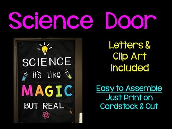 Science Door Decor- Science it's like MAGIC but real